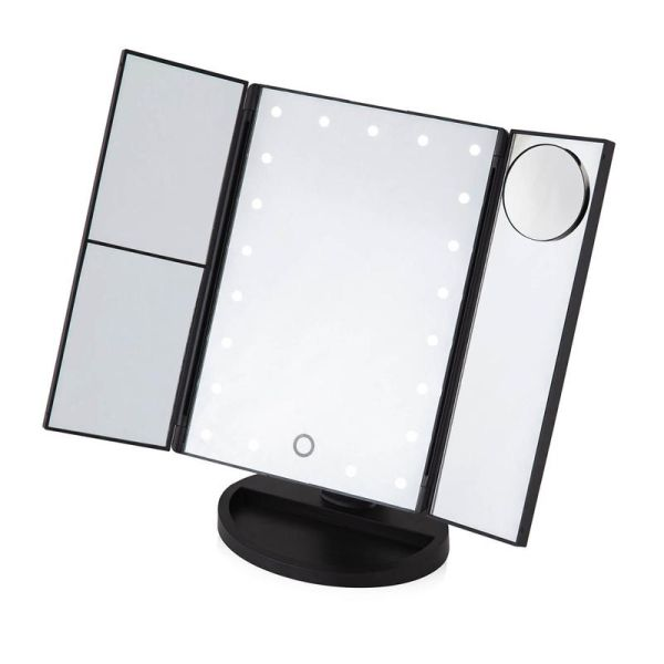 LED 3 Panel Mirror with 5Pc