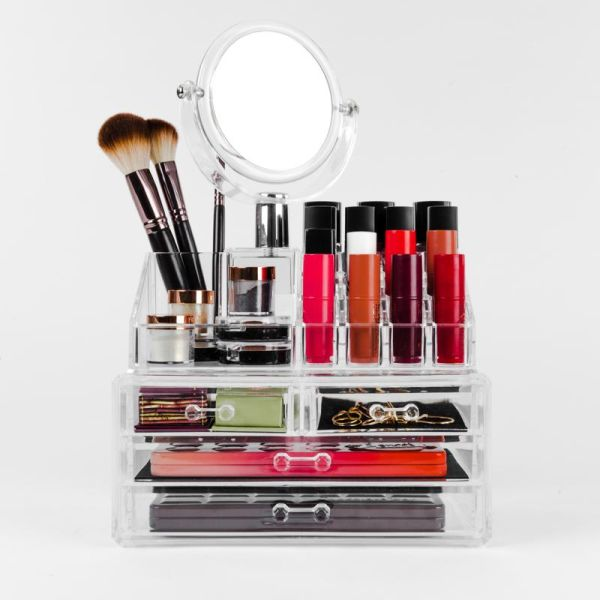 YOU Cosmetic Organiser with Mirror